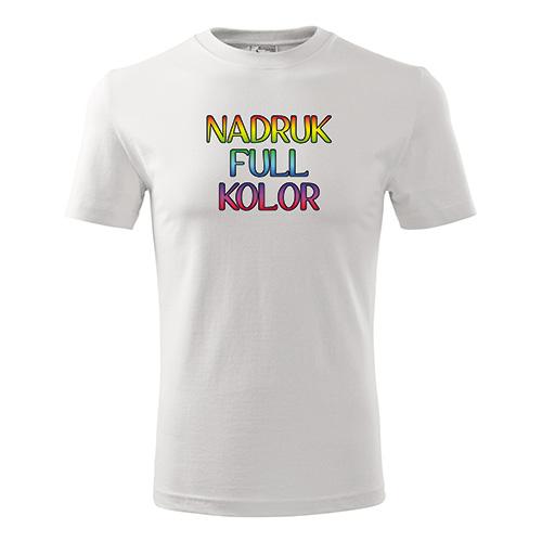Koszulka classic biała z własnym nadrukiem 1 sztuka