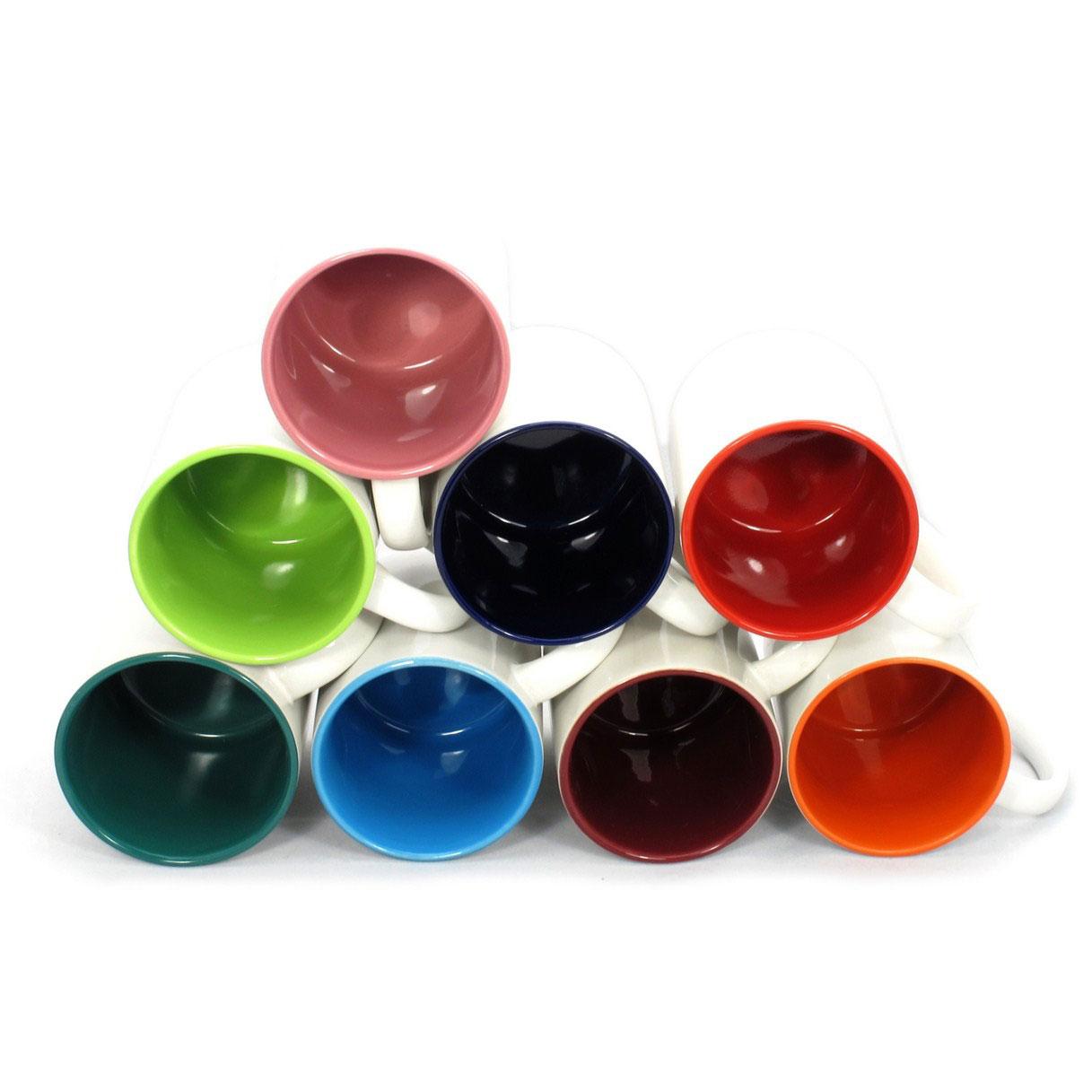 Kubek z kolorowym wnętrzem 100 sztuk