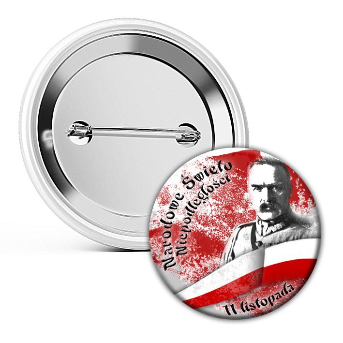 Buttony Przypinki patriotyczne 100 sztuk