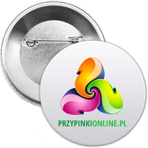 Buttony Przypinki 50 mm 300 sztuk