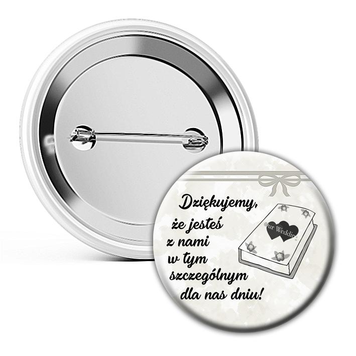 Buttony Przypinki weselne 100 sztuk